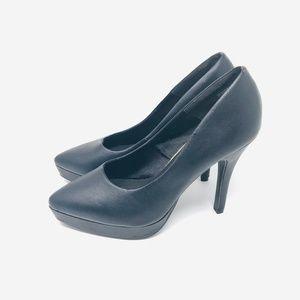 H&M Divided Pointed Toe Vegan Platform Heels